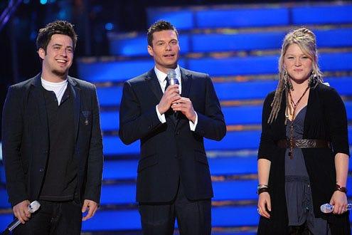 American Idol - Season 9 - Lee Dewyze, Ryan Seacrest and Crystal Bowersox