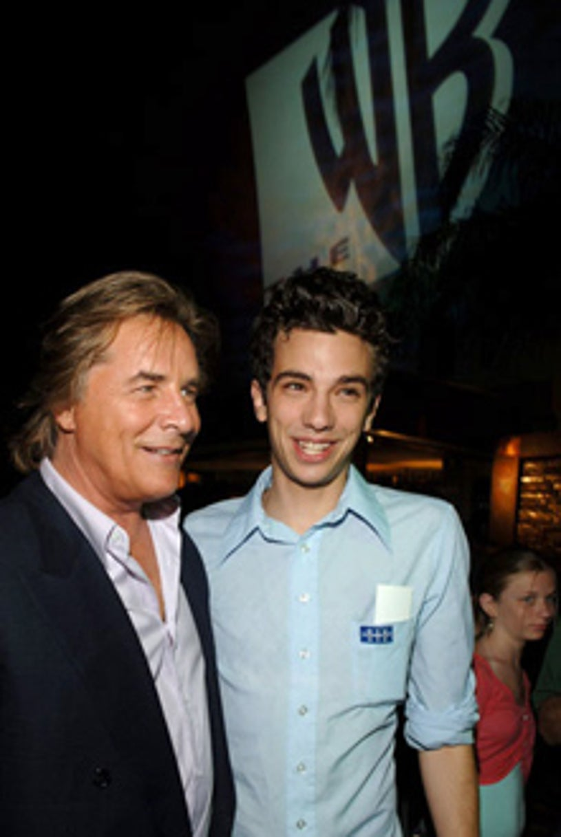 """Don Johnson and Jay Baruchel of """"Just Legal"""" - 2005 WB Networks All Star Celebration"""