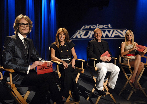 "Project Runway - Season 5 - ""Let's Start From the Beginning"" - Austin Scarlett, Nina Garcia, Michael Kors and Heidi Klum"