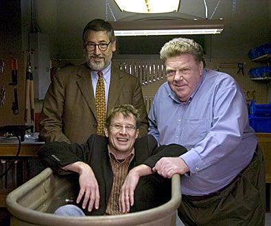 "Masters of Horror - Season 2, ""Family"" - Director John Landis, Glen Schaefer, and George Wendt"