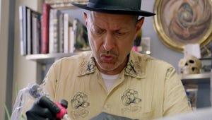 Fledgling Tattoo Artist Jeff Goldblum Inks Up a Fan in The World According to Jeff Goldblum Sneak Peek