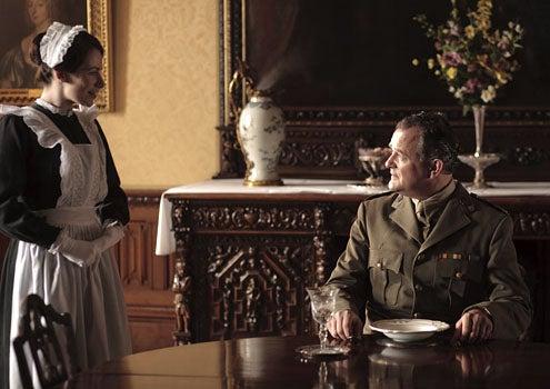 Downton Abbey - Season 2 - Clare Calbraith as Jane and Hugh Bonneville as Lord Grantham