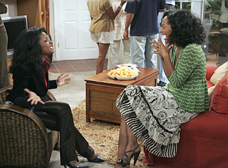 "Girlfriends - Season 7, ""In Too Deep"" - Keesha Sharp as Monica and Tracee Ellis Ross as Joan"