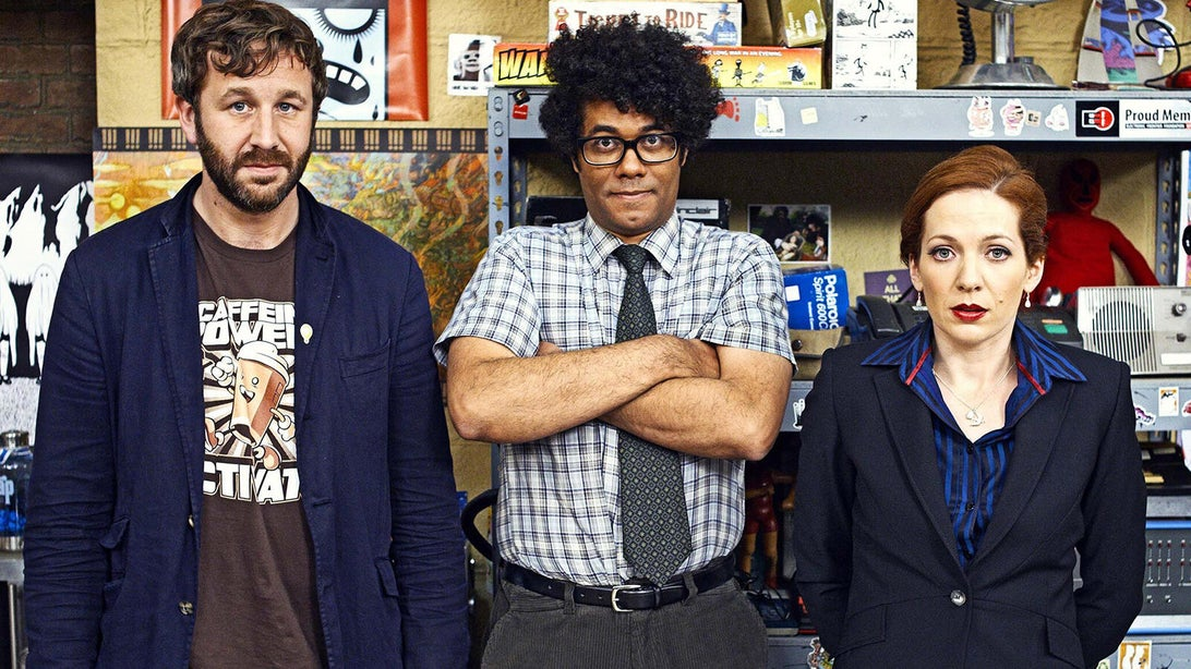 Chris O'Dowd, Richard Ayoade, and Katherine Parkinson, The IT Crowd