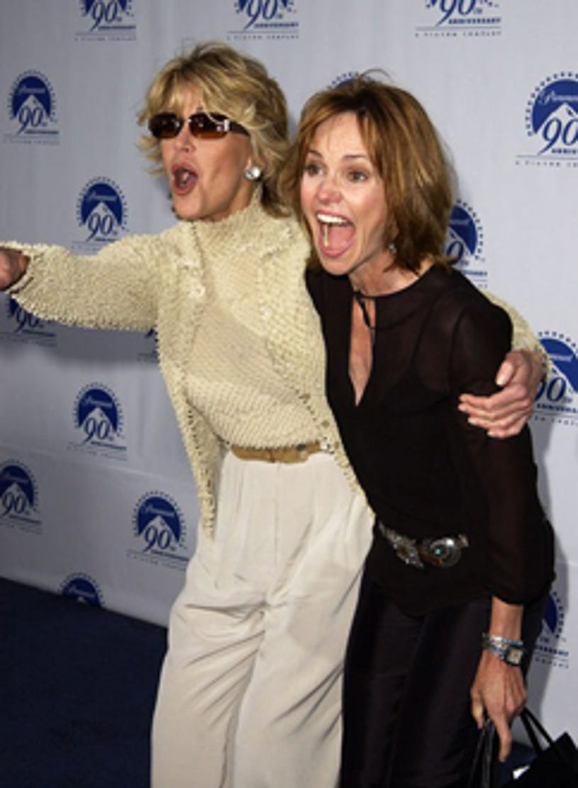"""Jane Fonda and Sally Field - Paramount's """"90 Stars for 90 Years"""" Celebration in Los Angeles, July 14, 2002"""