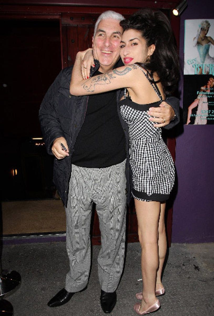 Amy Winehouse and father Mitch Winehouse - outside City Burlesque, London, October 7, 2010