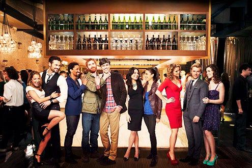 Mixology - Season 1 - Vanessa Lengies, Adan Canto, Craig Frank, Andrew Santino, Blake Lee, Ginger Gonsaga, Katie Simses, Alexis Carra, Adam Campbel and Sarah Bolger