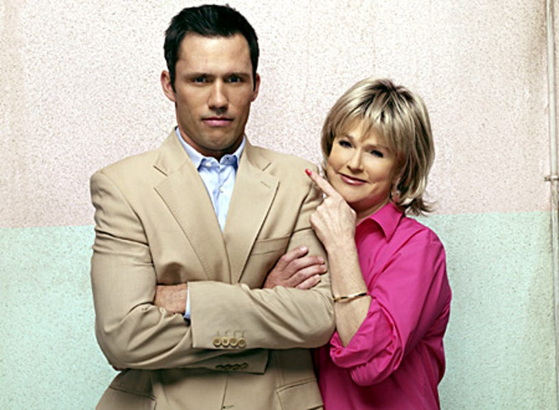 Burn Notice - Jeffrey Donovan as Michael Westen and Sharon Gless as Madeline