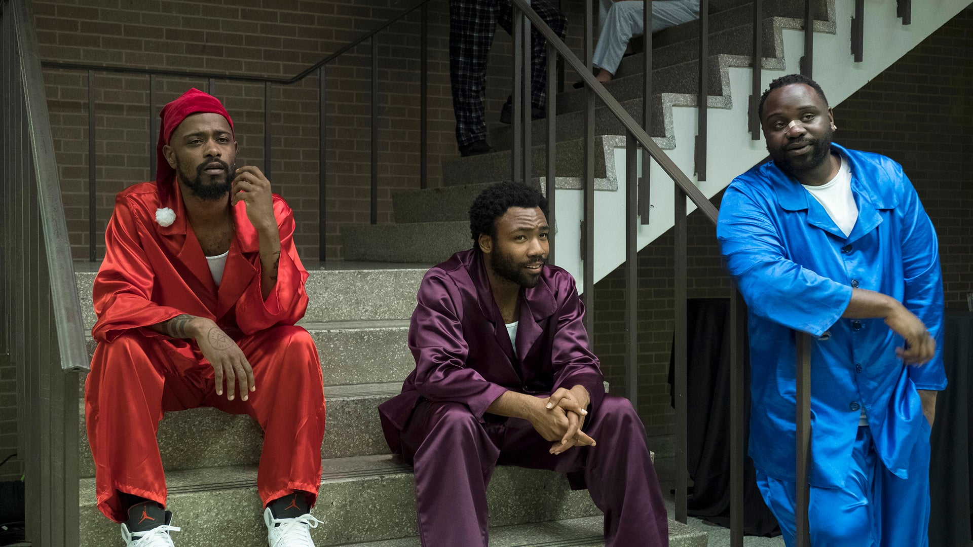 Lakeith Stanfield, Donald Glover and Brian Tyree Henry, Atlanta