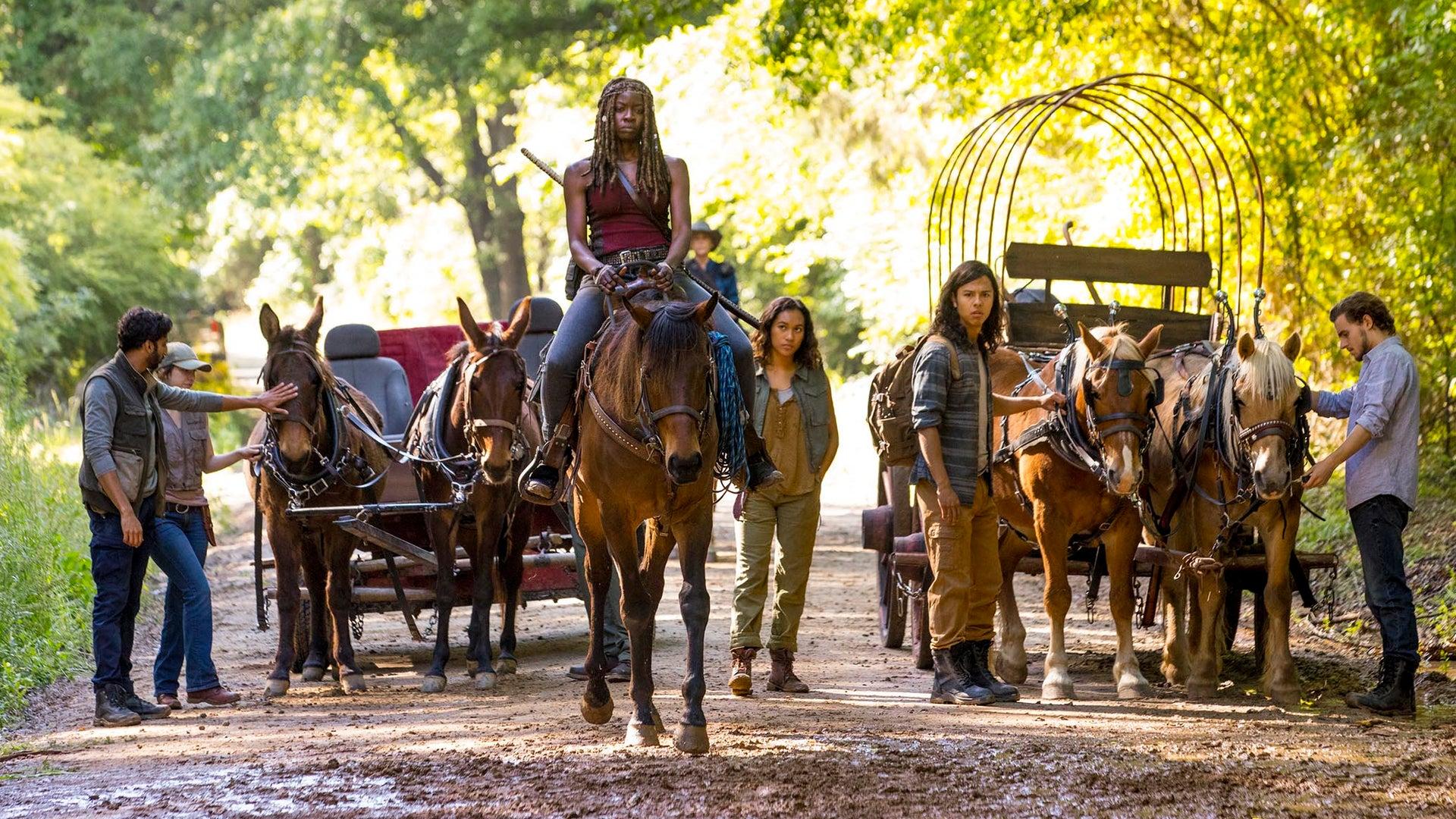 Danai Gurira, Sydney Park and Callan McAuliffe, The Walking Dead