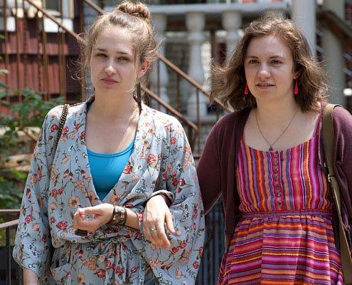 Girls - Season 1 - Jemima Kirke and Lena Dunham