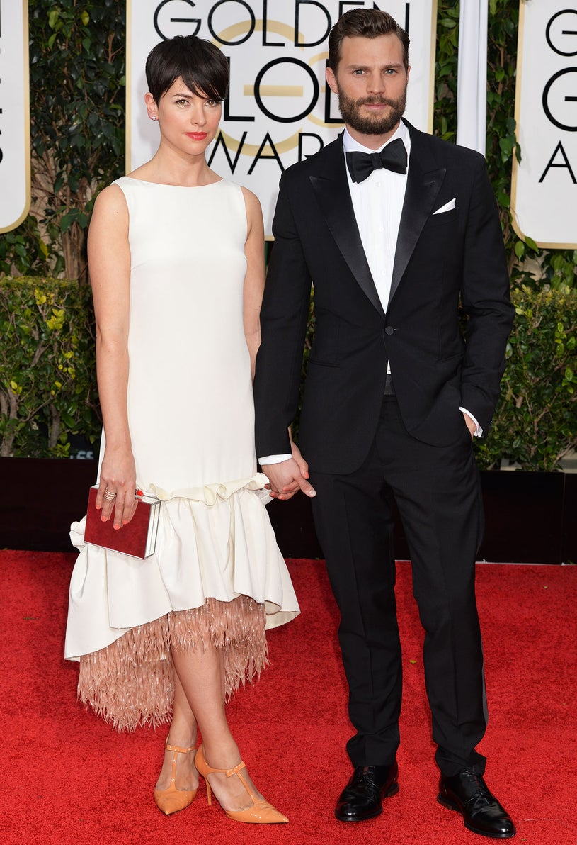 Amelia Warner and Jamie Dornan -72nd Golden Globe Awards in Beverly Hills, California, January 11, 2015