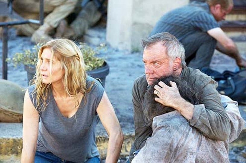 "Revolution - Season 2 - ""The Patriot Act"" - Elizabeth Mitchell and Stephen Collins"