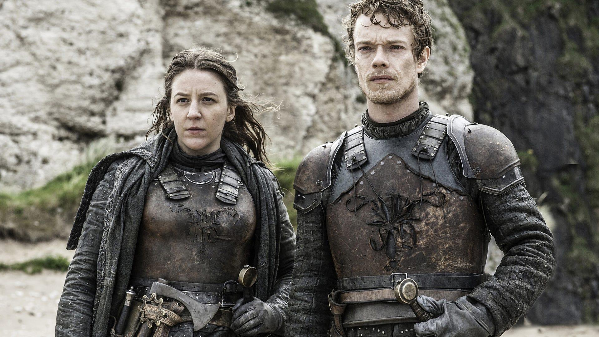 Gemma Whelan and Alfie Allen, Game of Thrones