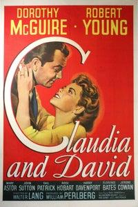 Claudia and David as Hartley Naughton