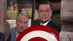 Stephen Colbert Revives Alter Ego to Discuss Trump with Jon Stewart