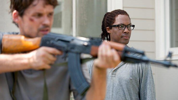 Austin Nichols and Corey Hawkins, The Walking Dead