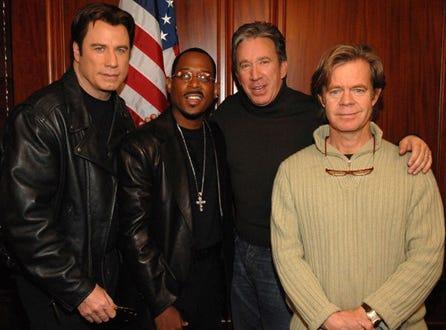 "John Travolta, Martin Lawrence, Tim Allen and William H. Macy - ""Wild Hogs"" press conference, February 6, 2007"