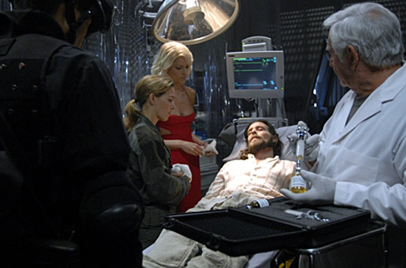"Battlestar Galactica - Season 3 - ""Taking a Break From All Your Worries"" - Kerry Norton, Tricia Helfer, James Callis and Donnelly Rhodes"