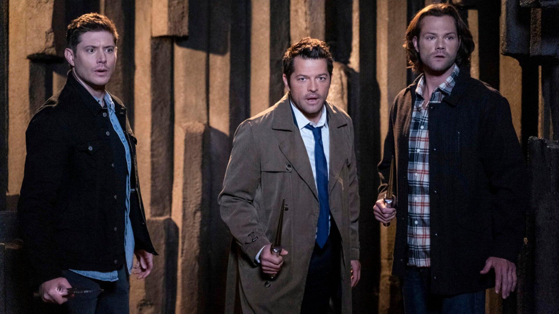 Jensen Ackles, Misha Collins, and Jared Padalecki, Supernatural