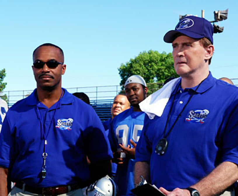 """The Game - Season 2, """"The Trey Wiggs Taps Back Episode"""" - Rocky Carroll as Kenny, Lee Majors as Coach Ross"""