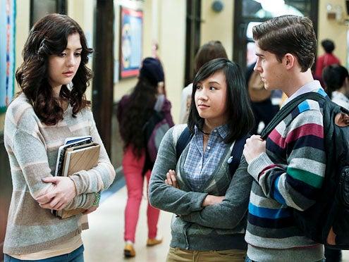 "The Carrie Diaries - Season 1 - ""Hush, Hush"" - Katie Findlay, Ellen Wong and Brendan Dooling"