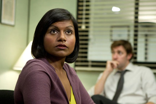 "The Office - Season 5 - ""Customer Survey"" - Mindy Kaling as Kelly, John Krasinski as Jim Halpert"