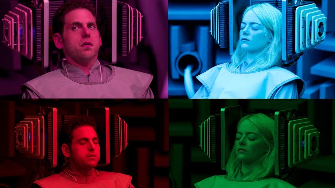 Jonah Hill and Emma Stone, Maniac