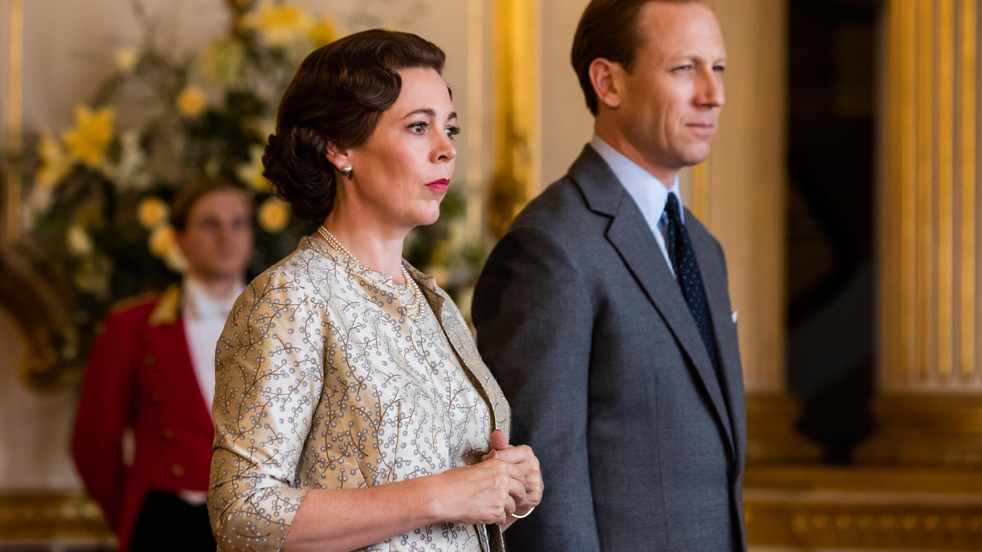 Olivia Colman and Tobias Menzies, The Crown