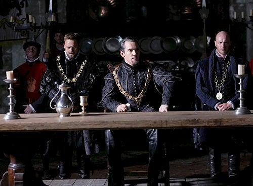 The Tudors - Season 4 - Rod Hallett as Sir Richard Rich and Jonathan Rhys Meyers as Henry VIII