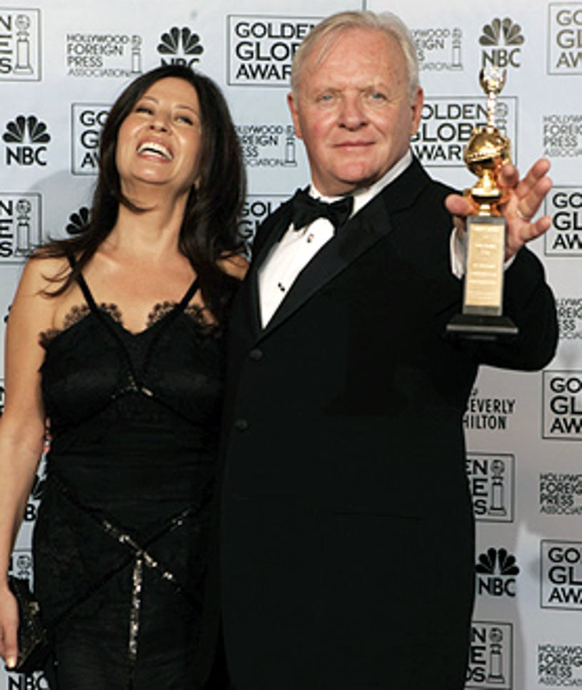 Anthony Hopkins and wife Stella Arroyave - The 63rd Annual Golden Globe Awards, January 16, 2006
