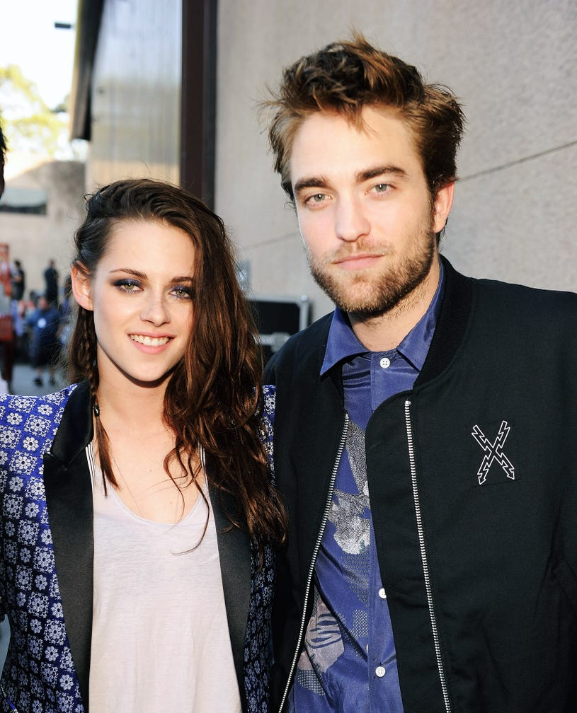 Kristen Stewart and Robert Pattinson attend the 2012 Teen Choice Awards at Gibson Amphitheatre on July 22, 2012