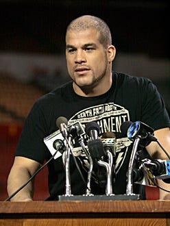 """Numb3rs - Season 3, """"Contenders"""" - Guest star, UFC fighter Tito Ortiz as Tito Alva"""