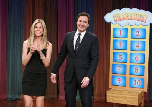 Late Night with Jimmy Fallon - Season 3 - Jennifer Aniston and Jimmy Fallon