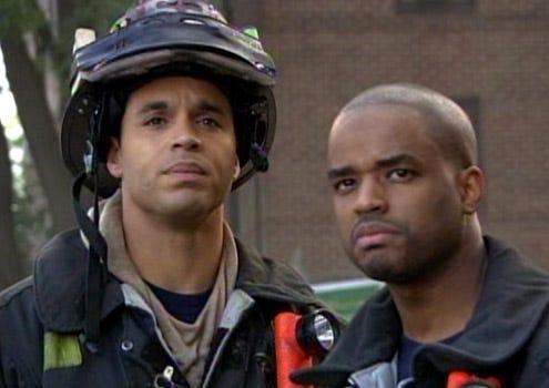"Rescue Me - Season 5 - ""Torch"" - Daniel Sunjata and Larenz Tate"