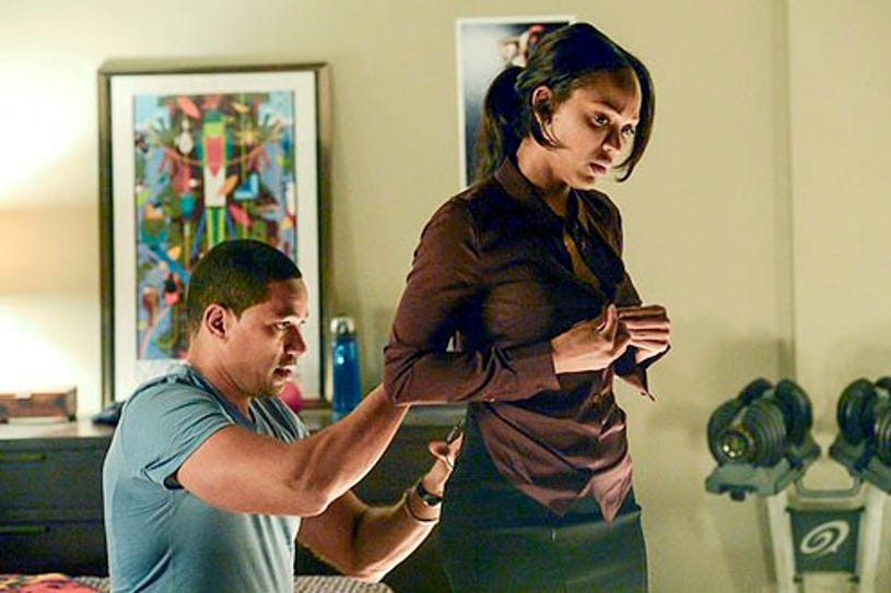 """Deception - Season 1 - """"One, Two, Three...One, Two, Three"""" - Laz Alonso and Meagan Good"""