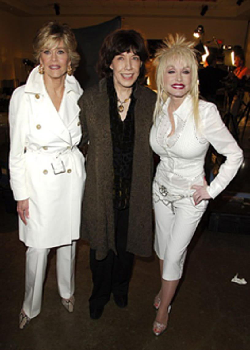"""Jane Fonda, Lily Tomlin and Dolly Parton - """"9 to 5"""" 25th Anniversary launch party, March 2006"""