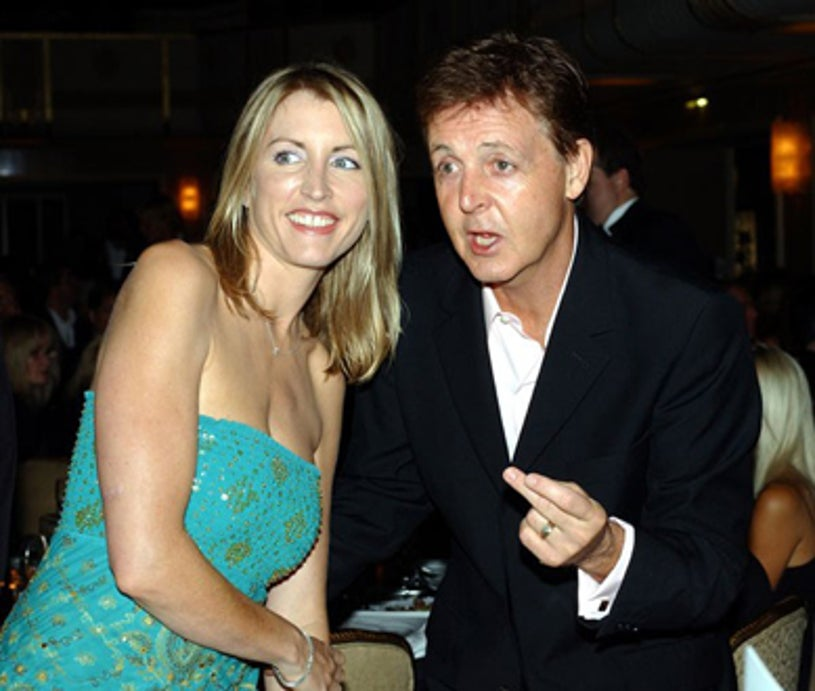Paul McCartney and Heather Mills - PETA'S 21st anniversary party in New York City, September 8, 2001