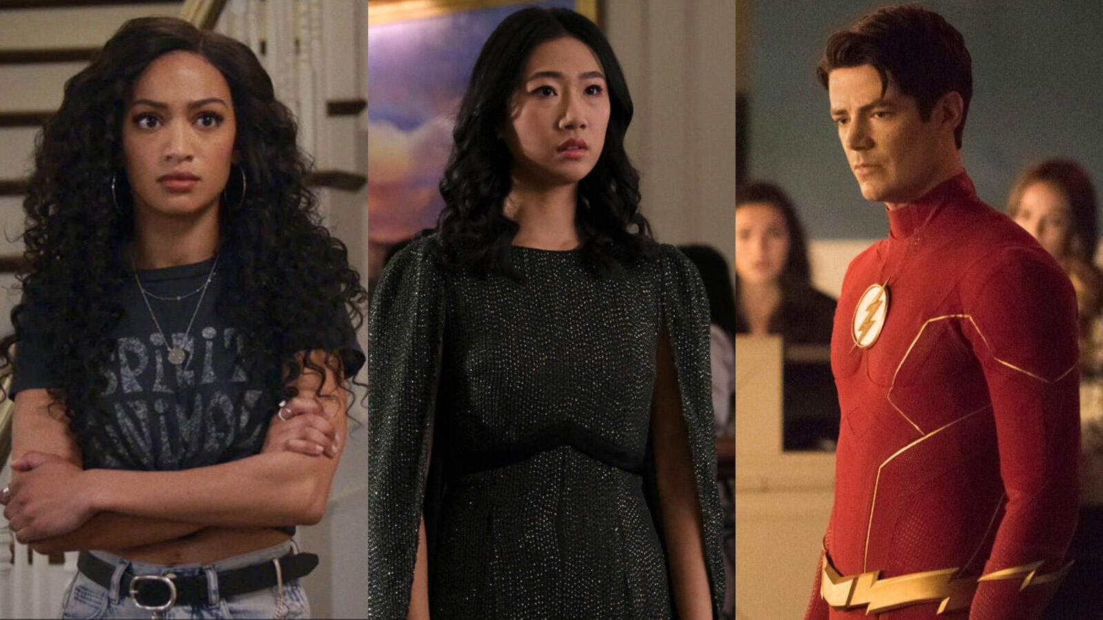 Samantha Logan (All American), Olivia Liang (Kung Fu), and Grant Gustin (The Flash)