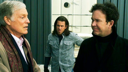 "Leverage - Season 3 - ""The Inside Job"" - Richard Chamberlain, Christain Kane and Timothy Hutton"