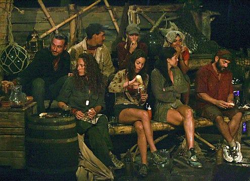 "Survivor: Heroes vs. Villains - Season 16 - Benjamin ""Coach"" Wade, Jerri Manthey, Rob Mariano, Danielle DiLorenzo, Courtney Yates, Parvati Shallow, Sandra Diaz, and Russell Hantz"