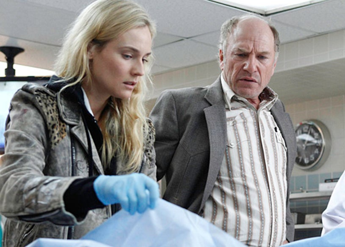 "The Bridge - Season 1 - ""Pilot"" - Diane Kruger as Sonya Cross, Ted Levine as Lt. Hank Wade"