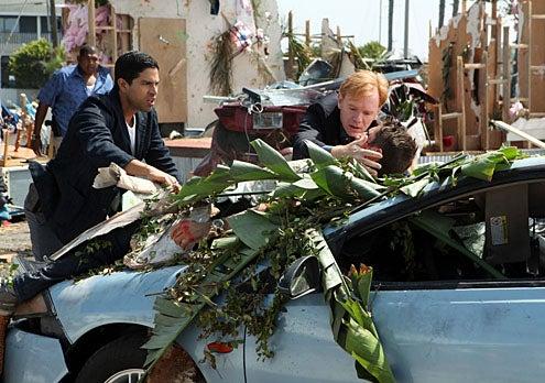 "CSI: Miami - Season 10 - ""Blown Away"" -  Omar Miller as Walter Simmons, Adam Rodriguez as Eric Delko, David Caruso as Horatio Caine and Jonathan Togo as Ryan Wolfe"