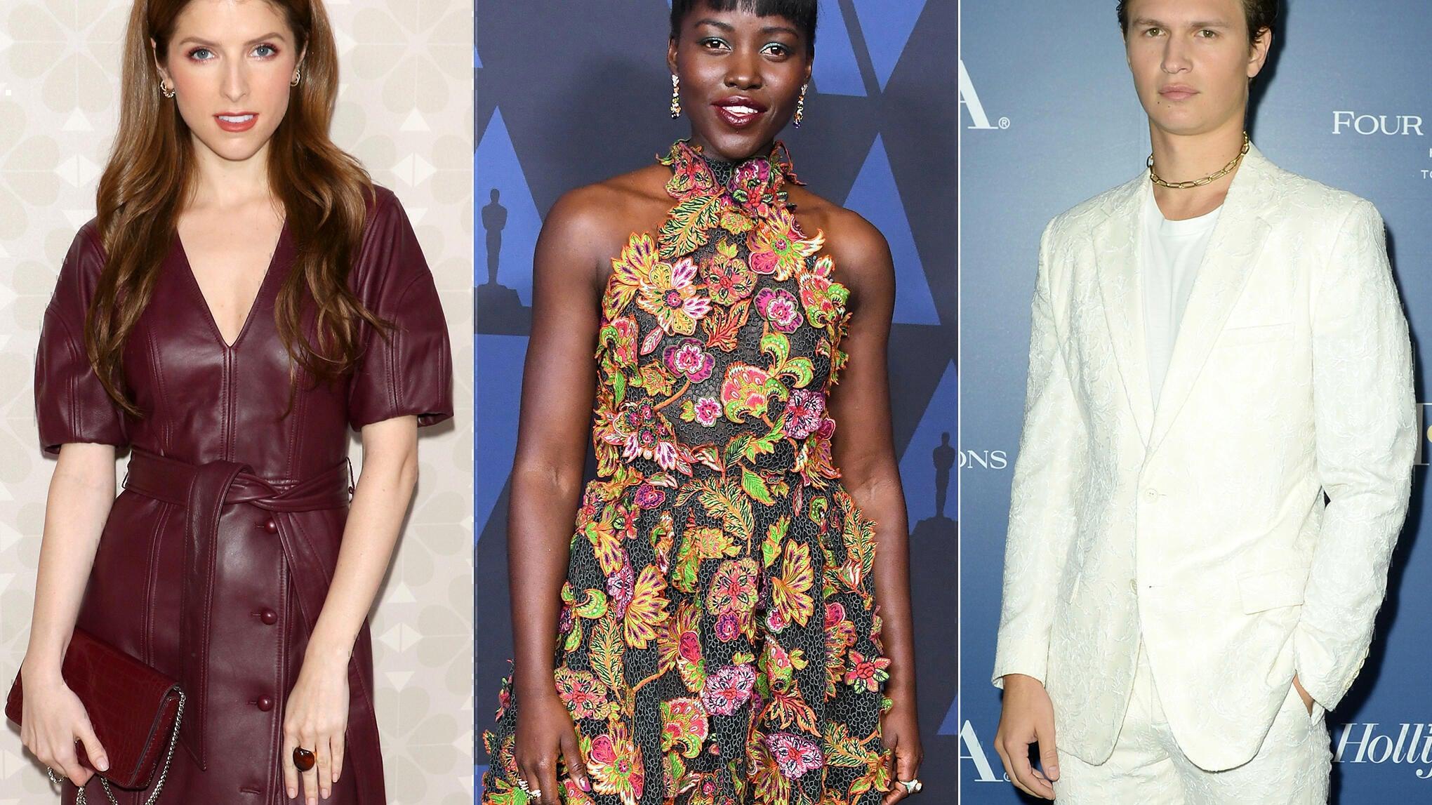Anna Kendrick, Lupita Nyong'o, and Ansel Elgort