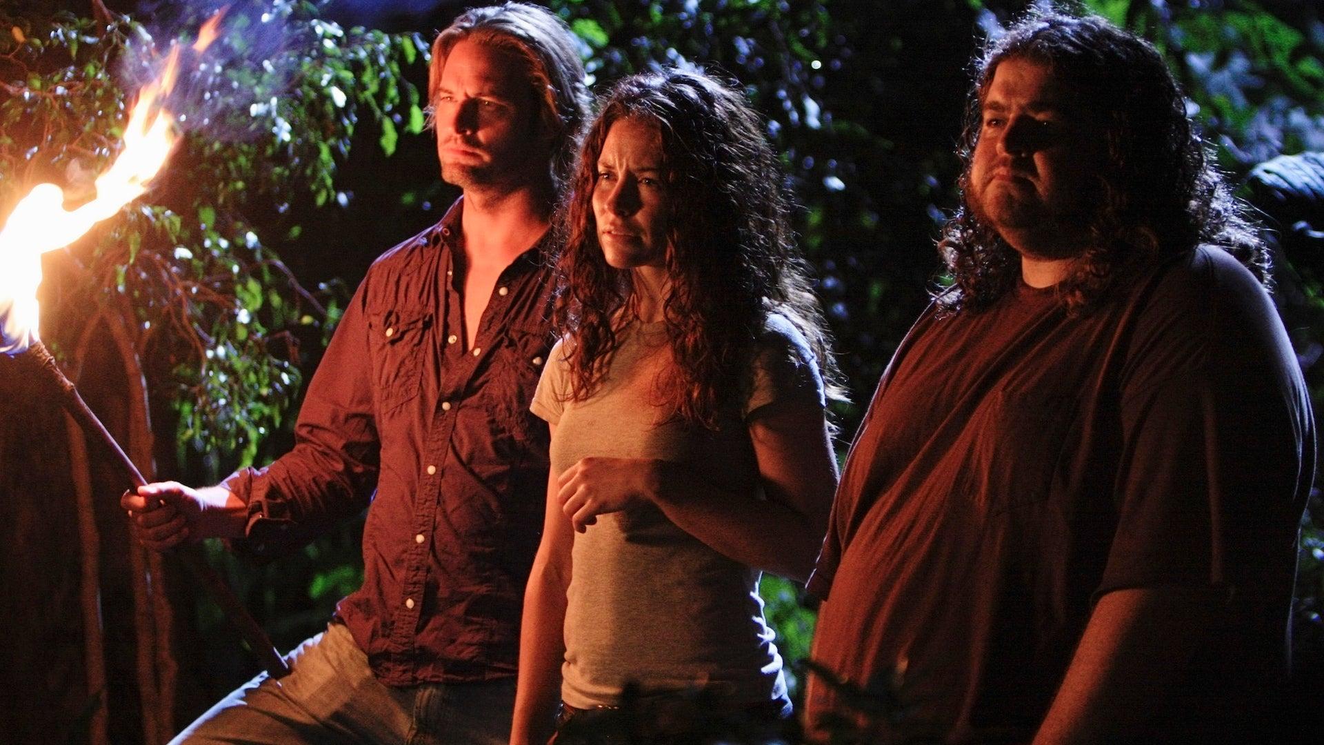 Josh Holloway, Evangeline Lilly and Jorge Garcia, Lost