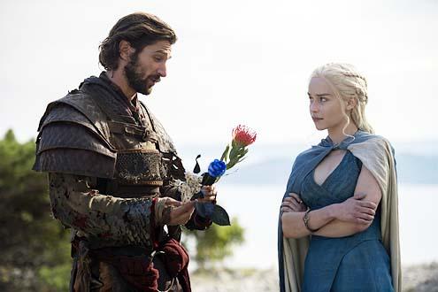 "Game of Thrones - Season 1 - ""Two Swords"" - Michiel Huisman and Emilia Clarke"