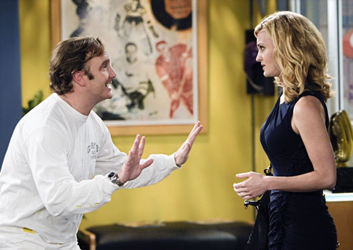 "Gary Unmarried - Season 2 - ""Gary Has a Dream"" - Jay Mohr as Gary and Brooke D'Orsay as Sasha"