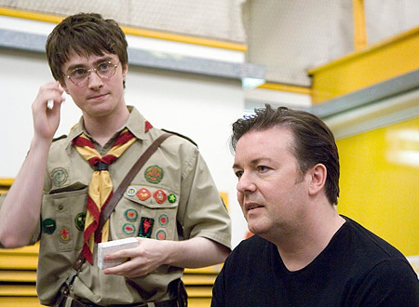 Extras - Daniel Radcliffe and Ricky Gervais