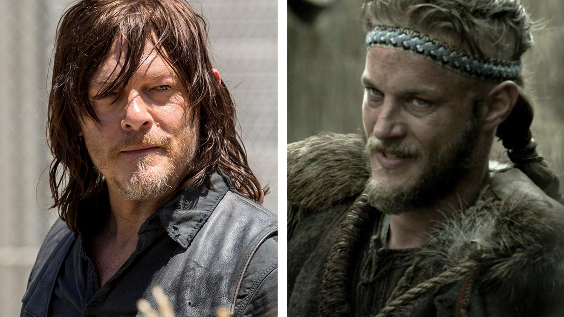 Norman Reedus, The Walking Dead, Travis Fimmel, Vikings