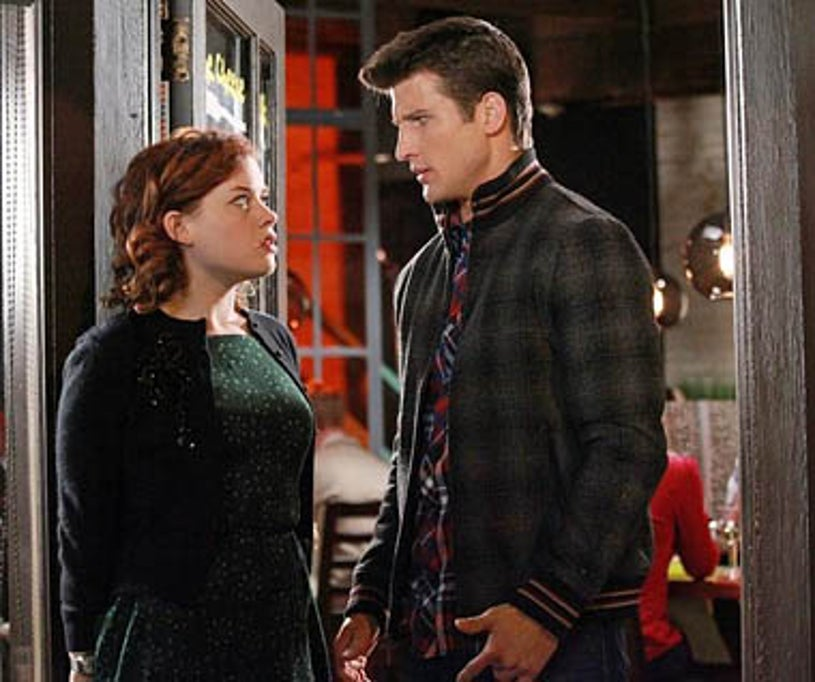 """Suburgatory - Season 1 - """"Down Time"""" - Jane Levy, Parker Young"""